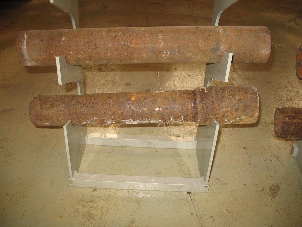 Трубы перед очисткой от радиации<br />